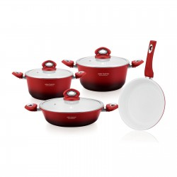 Set oale granit 7 piese Imperial Collection IM-1007ST,ROSU