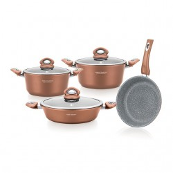 Set oale granit 7 piese Imperial Collection IM-1007ST, AURIU
